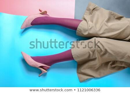 belo · senhora · sapatos · isolado · branco · rosa - foto stock © gubh83