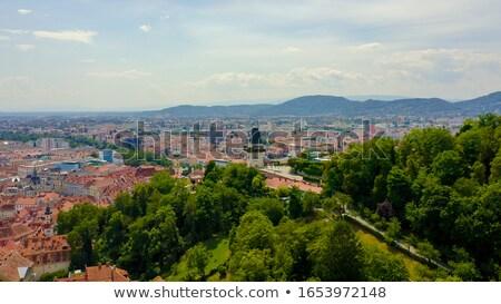 graz aerial view of city center austria stock photo © bertl123