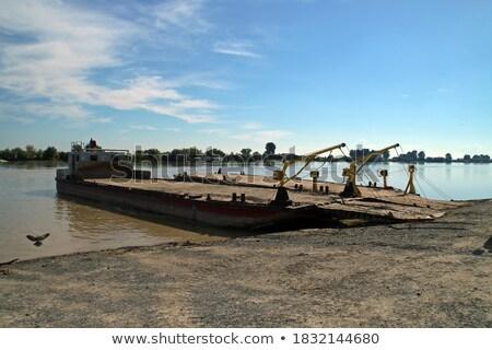 Barcos costa danúbio água nuvens Foto stock © mady70