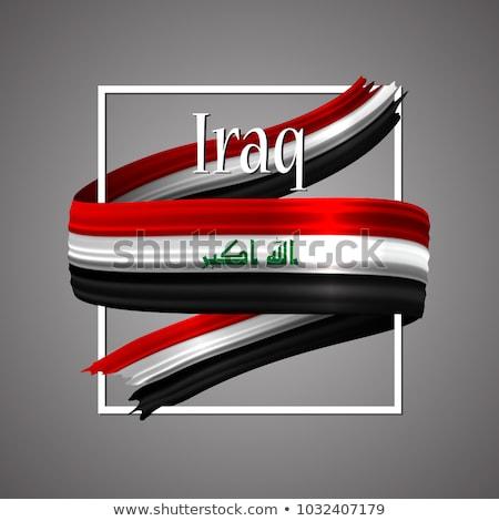 Abstract Irak vlag Rood boeg reizen Stockfoto © maxmitzu