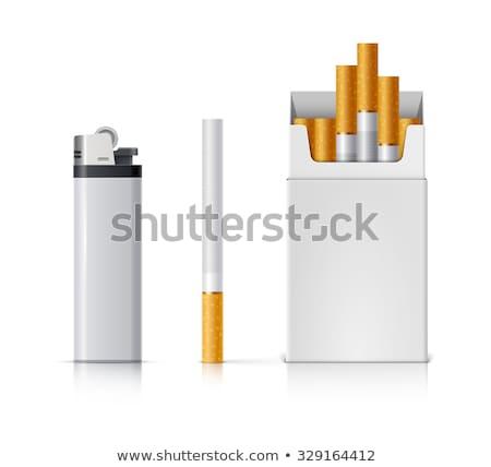 caixa · cigarros · fumar · pacote · charuto - foto stock © stevanovicigor