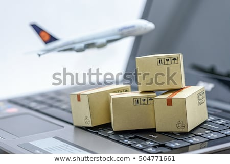 Stock foto: Welt · Paket · Versandkosten · internationalen · Paketzustellung · Business