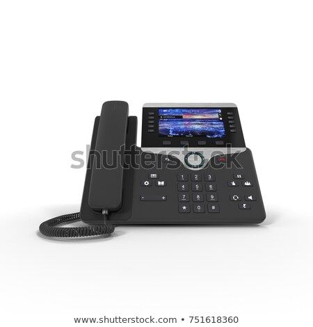 Voip telefono isolato bianco moderno Foto d'archivio © gewoldi