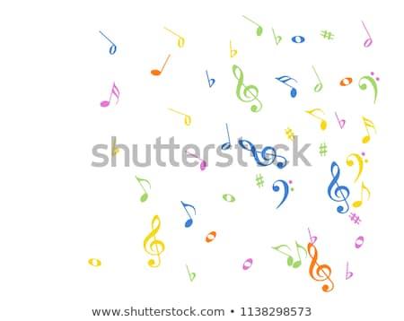 Absztrakt grunge dallam textúrák hátterek zene Stock fotó © ilolab