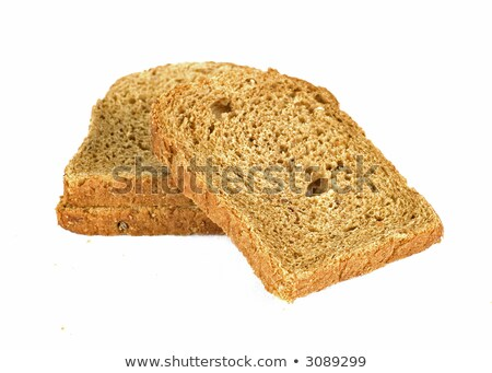 Slice of weat bread isolated on white background Stock photo © snyfer