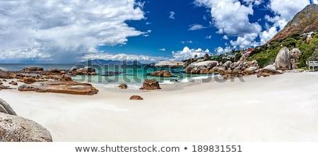 青 · 海 · 海岸 · 水 · 岩 - ストックフォト © xedos45