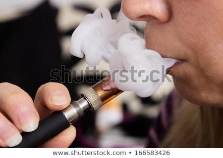 eléctrica · cigarrillo · aislado · blanco · salud · electrónico - foto stock © redpixel