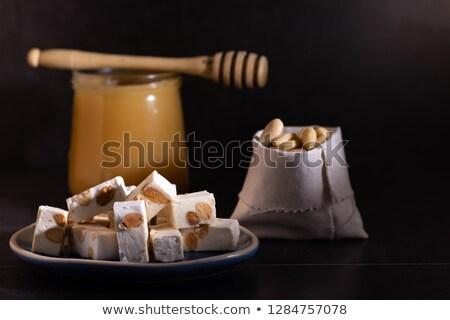 Mandulák méz édes Spanyolország makró részlet Stock fotó © lunamarina