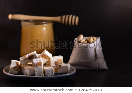 almonds and honey sweet nougat from spain Stock photo © lunamarina