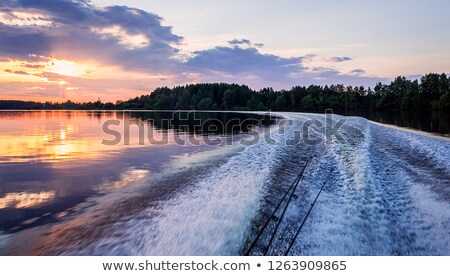 Fishing boat in a big game summer blue morning stock photo © lunamarina