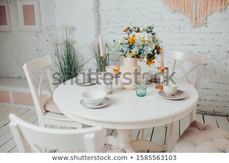 Dinning tables in room Stock photo © zzve