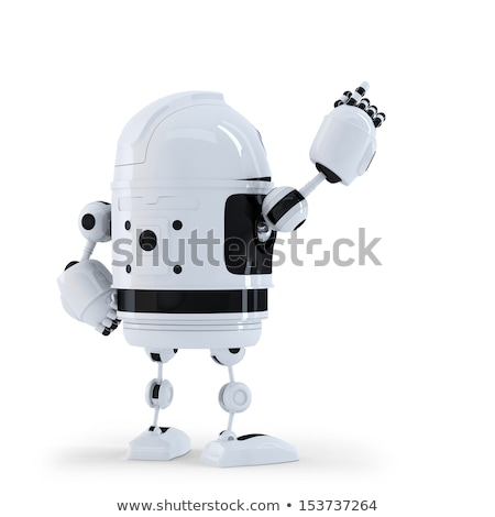 Robot senalando invisible objeto ordenador mano Foto stock © Kirill_M