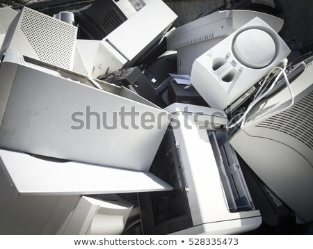 Discarded obsolete electronic equipment / computer scrap Stock photo © pxhidalgo
