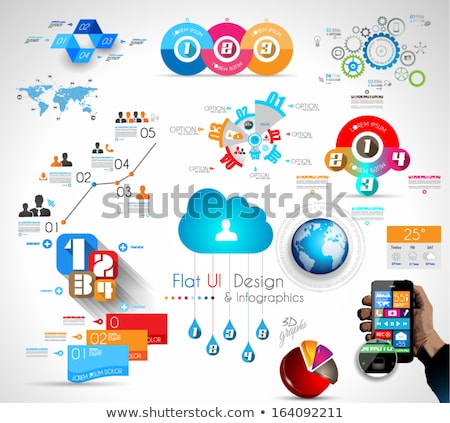 mega collection of quality infographics objects stock photo © davidarts