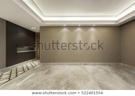 Lege kamer bruin marmer vloer witte muur Stockfoto © w20er