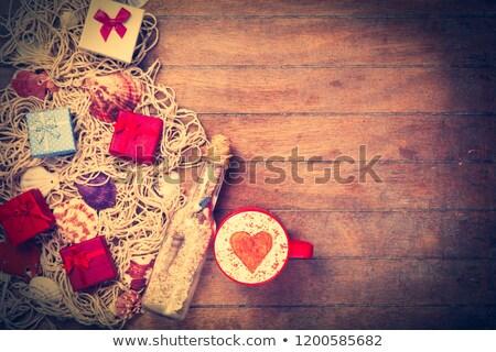 serca · symbol · muszle · piasku · morza · plaży - zdjęcia stock © mikko