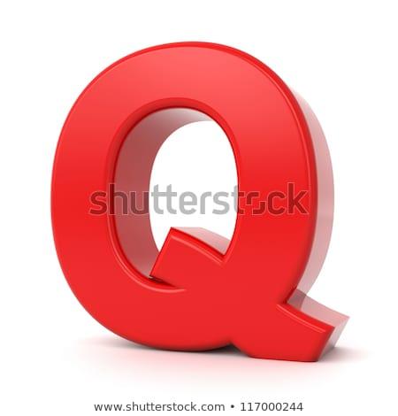 Red 3D Letter Q. Stock photo © tashatuvango