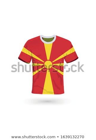 Bandera Macedonia fútbol equipo país Foto stock © MikhailMishchenko