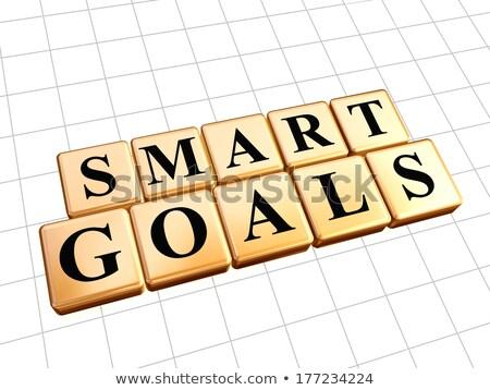 smart goals in golden cubes Stock photo © marinini