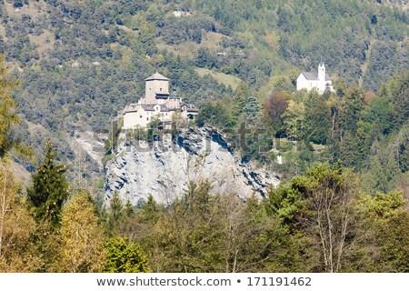 Castelo Suíça montanhas arquitetura europa história Foto stock © phbcz