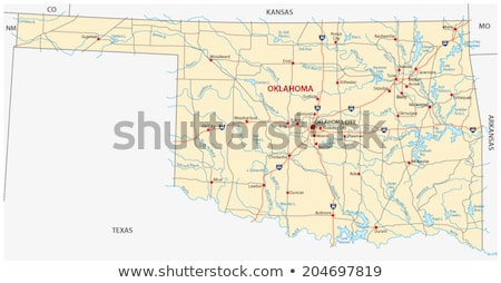 Térkép Oklahoma kék utazás Amerika USA Stock fotó © rbiedermann
