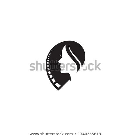Диафильм вид сбоку женщину бизнеса лице кадр Сток-фото © shawlinmohd