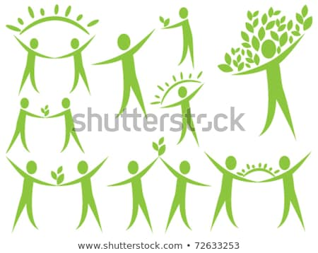 Human figure with green leaves- Abstract ecological concept Stock photo © shawlinmohd