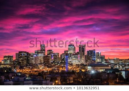 Skyline утра свет север сторона Сток-фото © ambientideas