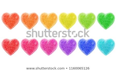 Coeur coeurs une jaune sur groupe Photo stock © Tagore75