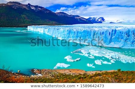 Gletsjer mooie IJsland hemel wolken Blauw Stockfoto © Hofmeester