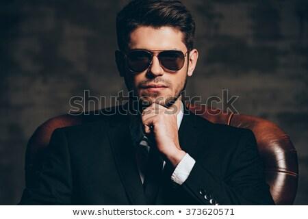 mode · model · zwart · pak · stropdas · aantrekkelijk - stockfoto © feedough