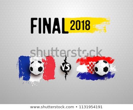 Vs Kroatië groep fase wedstrijd Stockfoto © smocker03