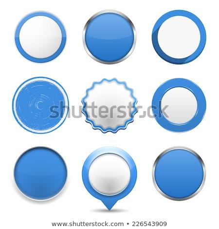 Azul círculo botón blanco vector luz Foto stock © gubh83