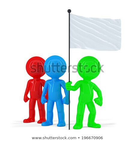team of coloured people holding flag isolated contains clipping path stock photo © kirill_m