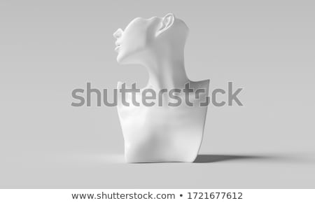 バスト 飾り グランジ 美 肖像 石 ストックフォト © oblachko