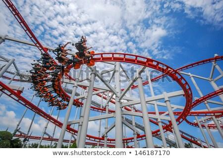 lunapark · mavi · gökyüzü · mavi · park · karnaval · hareket - stok fotoğraf © lucielang