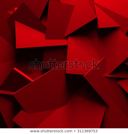 3d render of red cube on white background stock photo © montego