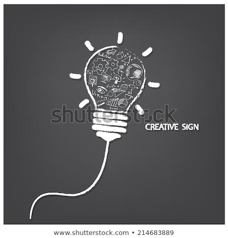 Criador letra estilo lousa negócio Foto stock © chatchai_stocker