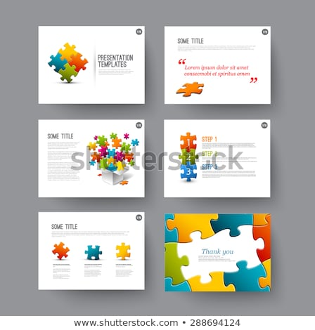 Stock photo: Content on Multicolor Puzzle.