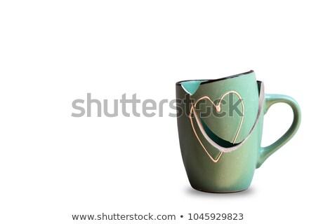 quebrado · caneca · caneca · de · café · café · chá · objeto - foto stock © flipfine