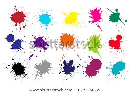 Stockfoto: Kleurrijk · druppels · verf · ontwerp · achtergrond · Rood