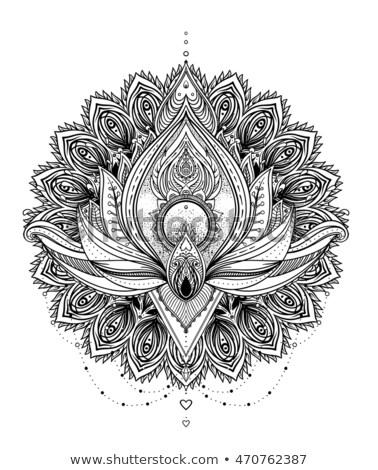 Magic book with lotus flower, vector illustration Stock photo © carodi