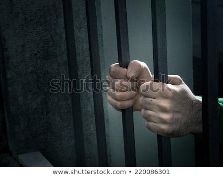 vecchio · carcere · ritratto · isolato · uomo · metal - foto d'archivio © stokkete