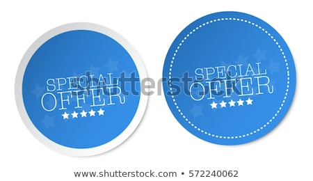 szezonális · ajánlat · kék · vektor · ikon · terv - stock fotó © rizwanali3d