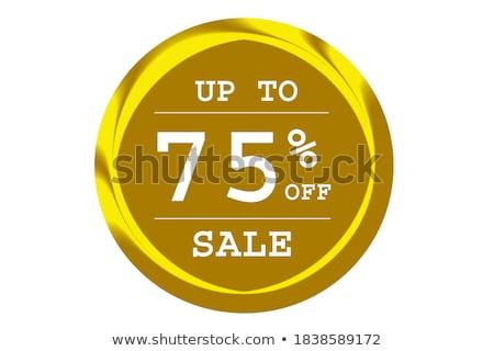 Get 75 Percent golden Vector Icon Design Stock photo © rizwanali3d