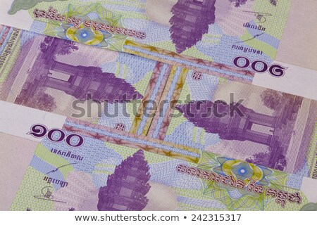 Different Riel banknotes from Cambodia on the table Stock photo © CaptureLight