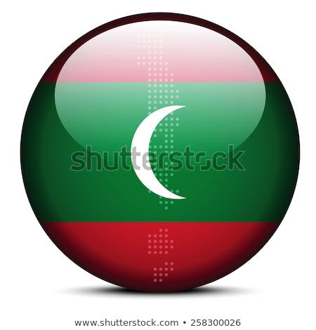 карта точка шаблон флаг кнопки Мальдивы Сток-фото © Istanbul2009