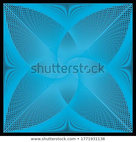 Monochrome pattern with wavy guilloche squares Stock photo © Zebra-Finch