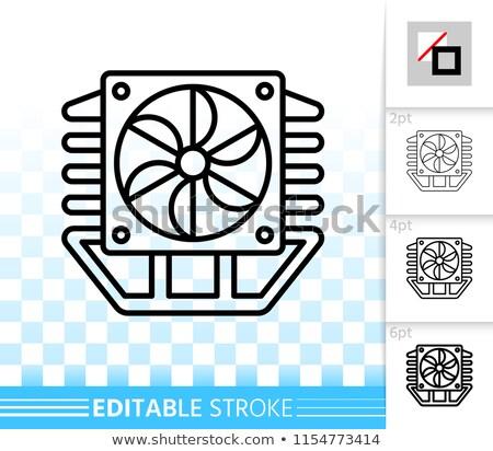 eletrônico · coleção · computador · placa-mãe · de · volta · lado - foto stock © nemalo
