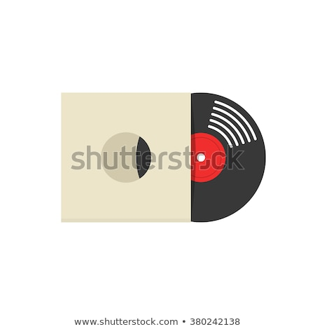 vinil · registro · cópia · espaço · dançar · laranja · discoteca - foto stock © merlot